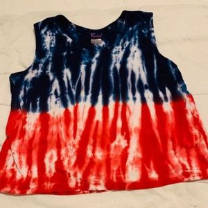 Freeze Red White And Blue Tank Large🦋